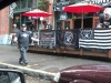 Raider fans get ready to march at New Orleans Creole in Seattle