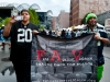 Raiders and Seahawk Fans March in the first FAV March Against Violence