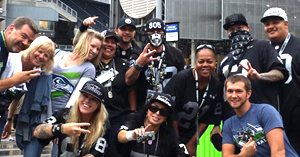Seattle and Raider Fans
